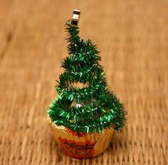 creative christmas crafts ideas miniature trees of cupcake paper