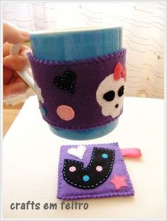 Mug coaster and mug cozy - Monster High Theme