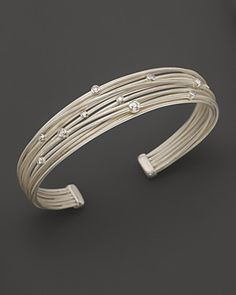 "India Hicks ""Island Life"" silver and diamond bracelet."