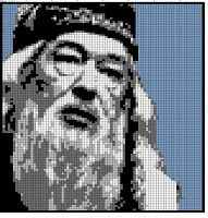 Dumbledore - based off of Totallee's patterns. Harry Potter Cross Stitch Pattern, Harry Potter Crochet, Cross Stitch Patterns, Art Patterns, Perler Patterns, Harry Potter Friends, Harry Potter Items, Pix Art, Clip Art Pictures