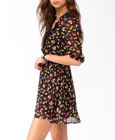 Floral Print Shirtdress w/ Belt | FOREVER21 - 2025100608