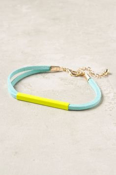 Aqua and lime bracelet