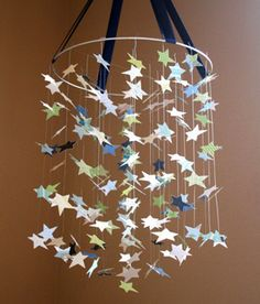 Link broken Like the idea, use double sided scrap book paper, cut out stars
