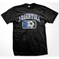Argentina Argentine Soccer Ball Futbol Logo National Ethnic Pride -Mens T-shirt #na #GraphicTee