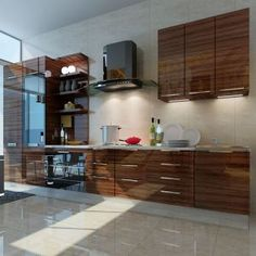 Wood Grain High Gloss Acrylic MDF Panel for Kitchen Cabinet Door on Made-in-China.com
