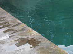 Dinard - piscine après la pluie