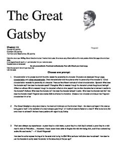 Great gatsby essay topics