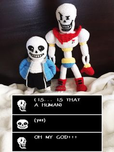 Undertale - Papyrus and Sans Amigurumi by lithharbor on DeviantArt