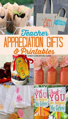 Here are a few great Teacher Appreciation Gifts & Printables to make the teacher feel special including free printable labels! Easy enough for kids to help! #teachergifts #teacherprintable #teacherappreciationgifts