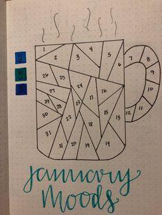 Bullet Journal Contents, Bullet Journal Mood Tracker Ideas, Bullet Journal Paper, January Bullet Journal, Creating A Bullet Journal, Self Care Bullet Journal, Bullet Journal Lettering Ideas, Bullet Journal Notebook, Bullet Journal Aesthetic