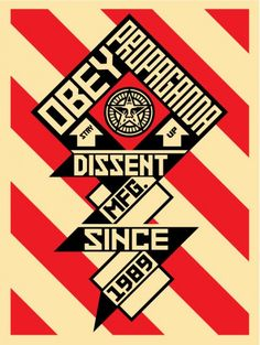 CONSTRUCTIVIST BANNER (CREAM) by Obey Giant