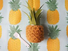 Les Moustachoux: DIY : un pot ananas en crochet