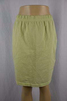 Bobbie Brooks Womens Medium Light Green Textured Knee Length Skirt Stretch Waist #BobbieBrooks #StraightPencil