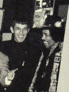 Leonard Nimoy and Jimi Hendrix. The coolness cannot be quantified.