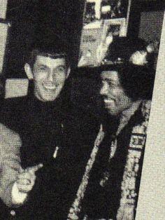 Leonard Nimoy and Jimi Hendrix: