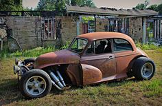 morris minor rat rod