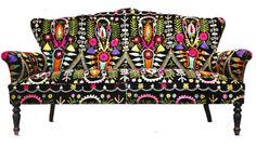 mid century modern print upholstery fabric - Google Search