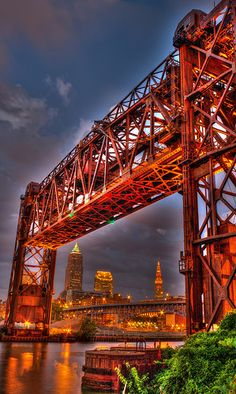 Ohio: Conrail Bridge in Cleveland Cleveland Browns, Cleveland Ohio, Cleveland Scene, Columbus Ohio, Bar Lounge, The Buckeye State, Coaster, Lake Erie, To Infinity And Beyond