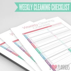 Modern Weekly Cleaning Checklist - Instant Download! PDF format ready to print at home!