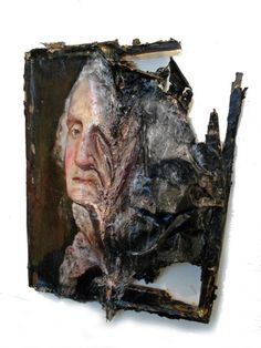 - 'Destroyed Paintings' by Valerie Hegarty is a line of artwork that takes prints of famous pieces of art and depicts them as if they hav. Inspiration Art, Art Inspo, Decay Art, Modern Art, Contemporary Art, Growth And Decay, A Level Art, Art Design, Installation Art