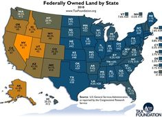 Federally Owned Land by State ~ REALLY?   Can the federal government LEGALLY OWN American Land?