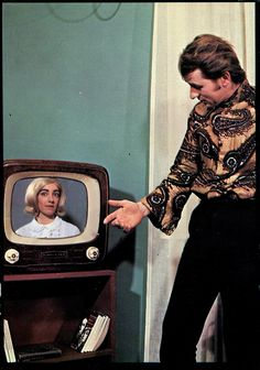 Friday 13th, 1971: Darren's big mistake was showing Sharon his new man-blouse on Seventies' Skype.