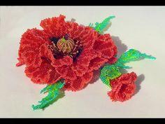 Needlewoman - beading, knitting, sewing Beaded Flowers Patterns, Seed Bead Patterns, Beading Patterns, Seed Bead Flowers, French Beaded Flowers, Flower Video, Beadwork Designs, Beaded Ornaments, Bead Jewellery