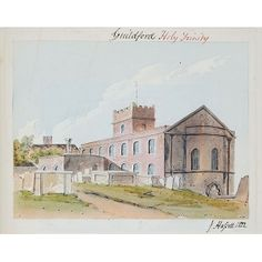Watercolour of Holy Trinity Church, Guildford