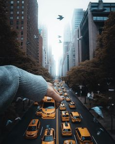 Photo illustration by @ivvnwong A toy taxi enters Manhattan's fast lane in this