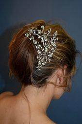 Alluring swarovski crystal vine wedding headpiece - SALE