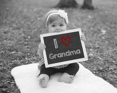 I Love Grandma Printable Chalkboard Sign by PrintsInspiredByMyah/Mothers Day Gift Ideas/