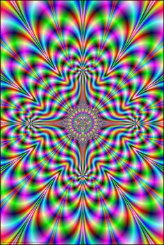 Psychedelic Pulse Poster, 24 in. x 36 in., SKU: 000918