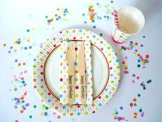 ♥ Party-Set KONFETTI Kindergeburtstag ♥   von Malika-Shop auf DaWanda.com