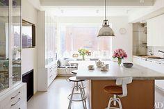 white kitchen  Tour Isaac Mizrahi's Greenwich Village Home Photos   Architectural Digest