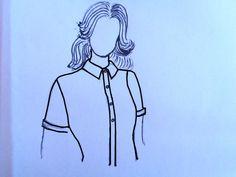 Colletto per una camicetta femminile