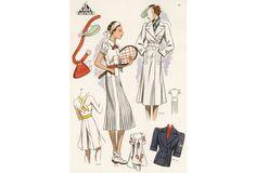 French Tennis Fashion, 1937