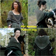 PDF Knitting Pattern, Outlander Claire's Rent Shawl, Triangle Shawl