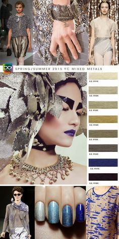 MIXED METALS     Electric blue and desert sand shades of metallic infusions and synthesized minerals give multi-faceted essentials state o...