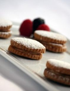 Alfajores - butter cookies filled with manjar blanco (Peruvian for dulce de leche)
