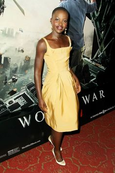 Lupita Nyong'o wearing Zac Posen at last night's WORLD WAR Z premiere in New York. She will make her breakout performance in Steve McQueen...