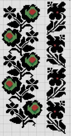 Awesome Most Popular Embroidery Patterns Ideas. Most Popular Embroidery Patterns Ideas. Beaded Cross Stitch, Cross Stitch Borders, Cross Stitch Flowers, Cross Stitch Designs, Cross Stitching, Cross Stitch Patterns, Bead Embroidery Patterns, Folk Embroidery, Loom Patterns
