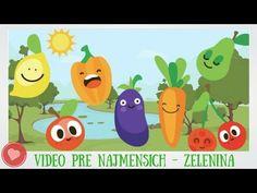 Videa Pre Deti a Najmenších – Kamaráti Zeleninka a Ovocie - YouTube Play Doh, Old School, Education, Youtube, Character, Art, Art Background, Kunst, Performing Arts