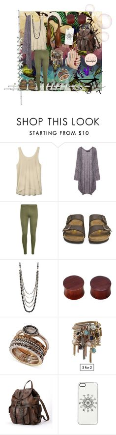 """""""Hello beautiful."""" by laurasaurusrexx ❤ liked on Polyvore featuring Rebecca Minkoff, WearAll, Birkenstock, NAKAMOL, NOVICA, Lucky Brand, Frye, Zero Gravity, women's clothing and women"""