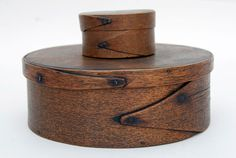 antique boxes | Finger jointed miniature box with remnants of old paint. Great patina ...