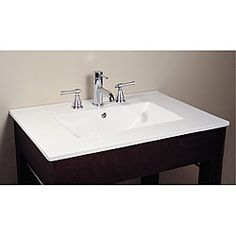 Avanity Vitreous China Countertop Integrated 31-inch Square Bowl Sink | Overstock.com Shopping - Great Deals on Bathroom Sinks