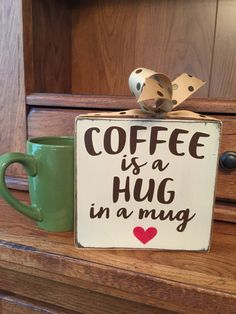 Coffee Sign Coffee Bar Decor Coffee Lover by HeartfeltByDonna
