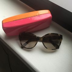 Kate Spade Sunglasses Kate Spade Tortoise Sunglasses, slight cat eye, perfect condition. Absolutely no scratches! kate spade Accessories Sunglasses