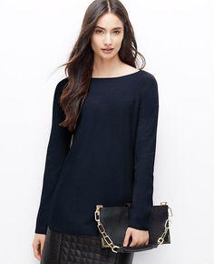 Petite Boatneck Sweater Tunic