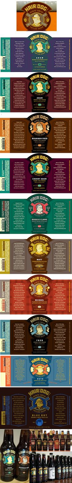Hair Of The Dog Brewing Company's Lovely Labels.
