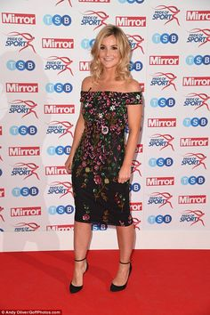 Wow: Helen Skelton, 33, showed off her enviable svelte frame as she arrived in style at th...